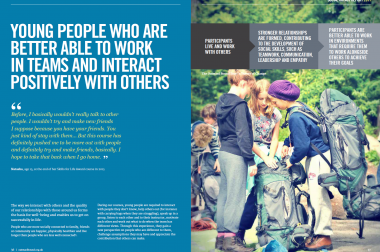 YOUNG PEOPLE WHO ARE BETTER ABLE TO WORK IN TEAMS AND INTERACT POSITIVELY WITH OTHERS